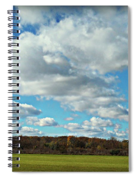 Country Autumn Curves 7 Spiral Notebook