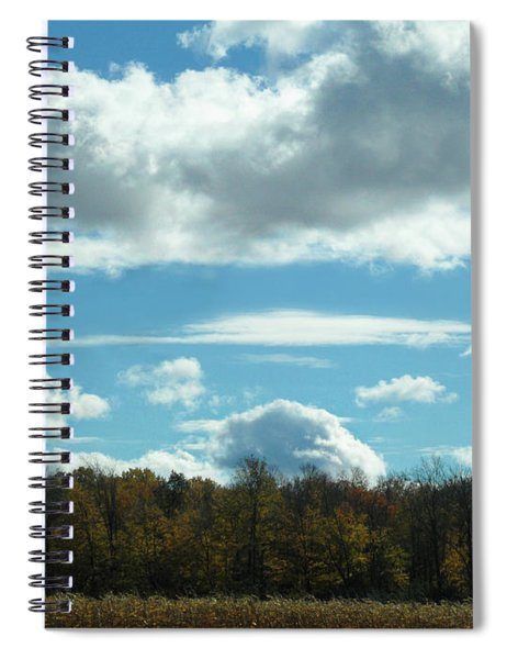 Country Autumn Curves 8 Spiral Notebook