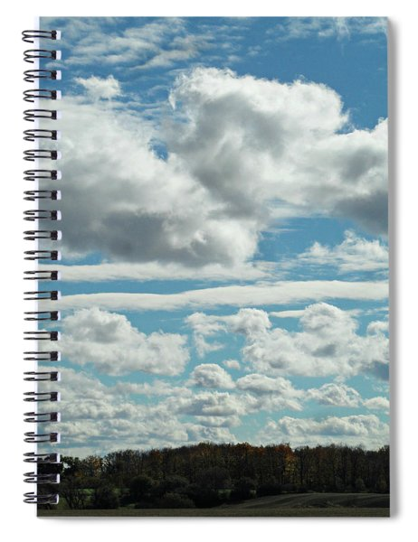 Country Autumn Curves Spiral Notebook
