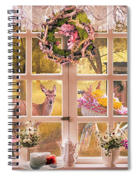 Country Cottage At Sunrise Spiral Notebook