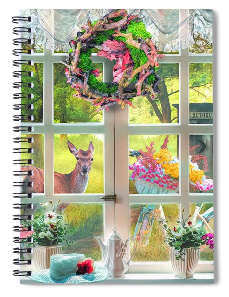 Country Cottage Painting Spiral Notebook