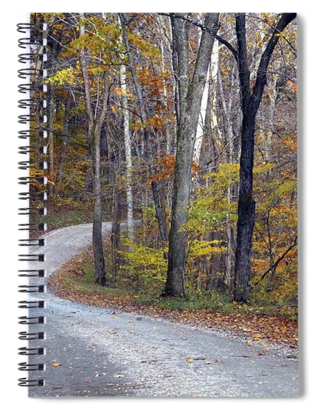 Country Road On Fall Day Spiral Notebook