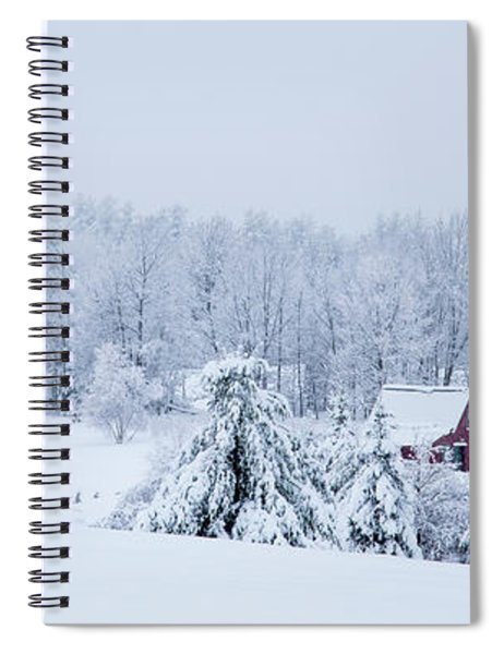 County Winter Scene  Spiral Notebook