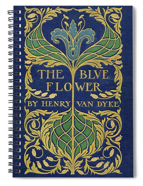 Cover Design For The Blue Flower Spiral Notebook