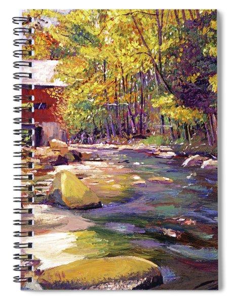 Covered Bridge In Vermont Autumn Spiral Notebook