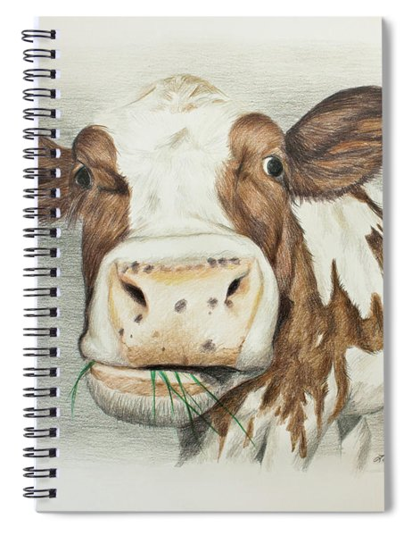 Cow Eating Breakfast Spiral Notebook