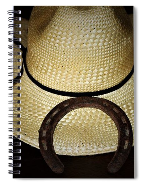 Cowboy Hat And Horseshoe Spiral Notebook