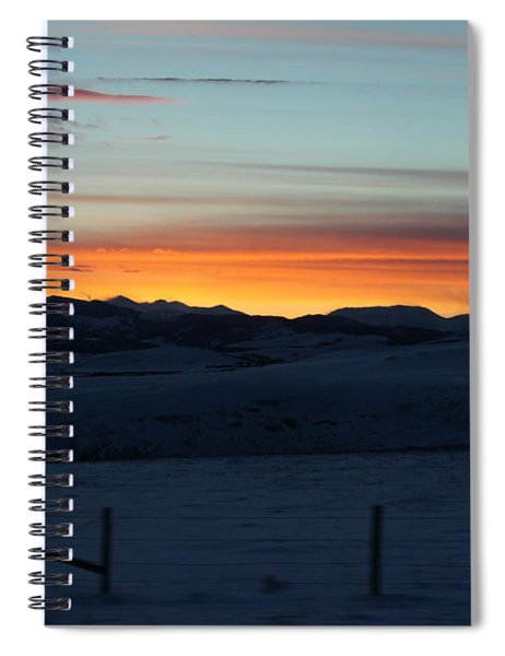 Cowboy Trail Sunset Spiral Notebook