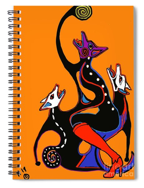 Coyote Moon  Spiral Notebook