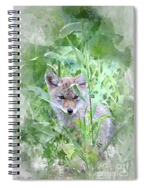 Coyote Pup Spiral Notebook