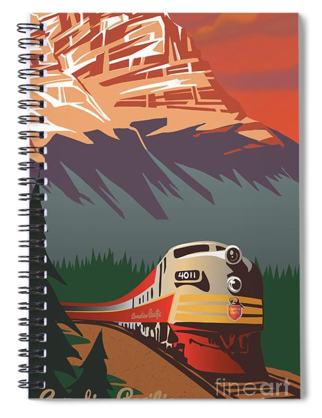 Cp Travel By Train Spiral Notebook