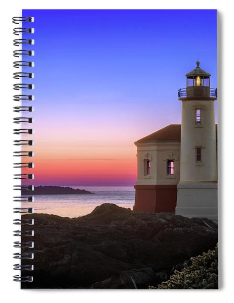 Crab Boat At The Bandon Lighthouse Spiral Notebook