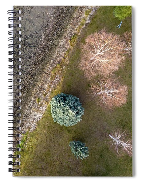 Cracks On Mud Spiral Notebook