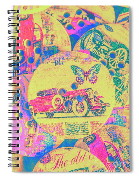 Crafty Car Commercial Spiral Notebook