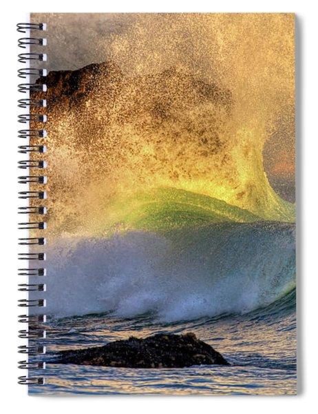 Crashing Wave Leo Carrillo Beach Spiral Notebook