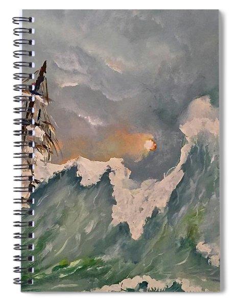 Crashing Waves Spiral Notebook