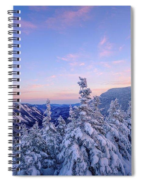 Crawford Notch Winter View. Spiral Notebook
