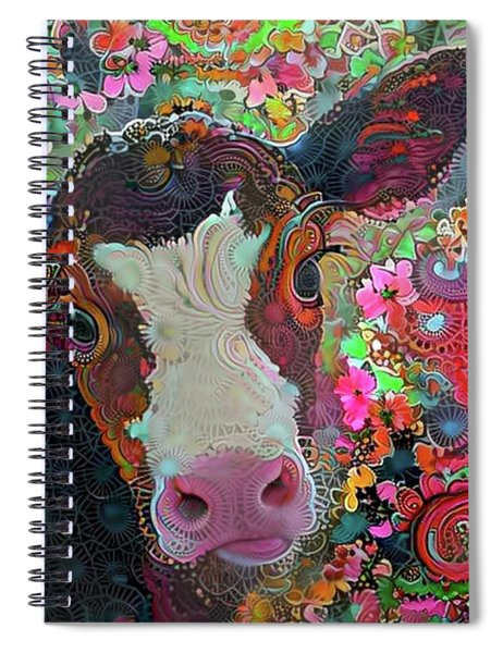 Crazy Colorful Cow Spiral Notebook