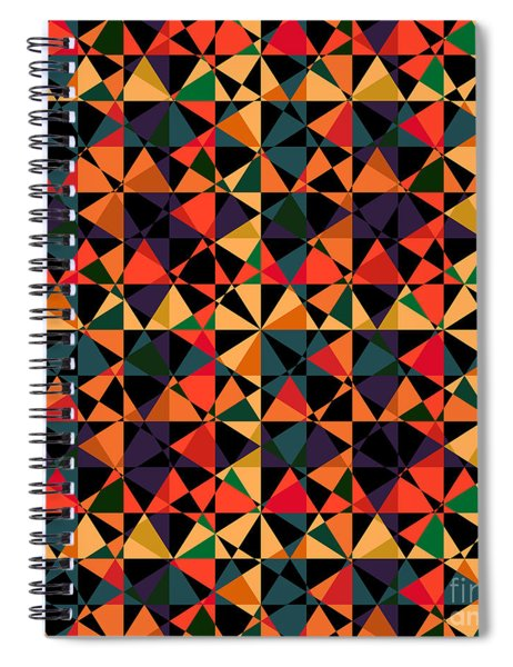 Crazy Psychedelic Art In Chaotic Visual Shapes - Efg214 Spiral Notebook