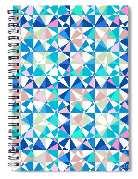 Crazy Psychedelic Art In Chaotic Visual Shapes - Efg216 Spiral Notebook