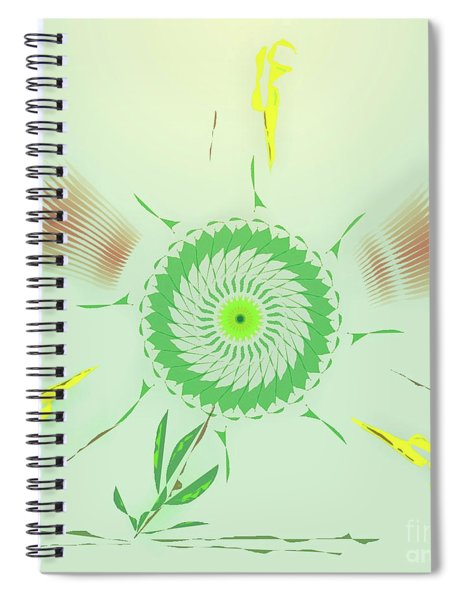 Crazy Spinning Flower Spiral Notebook