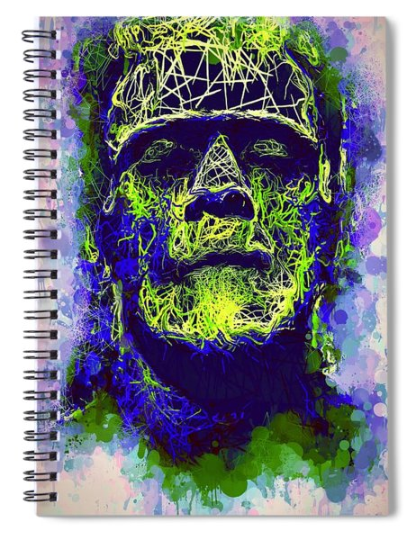 Frankenstein Watercolor Spiral Notebook
