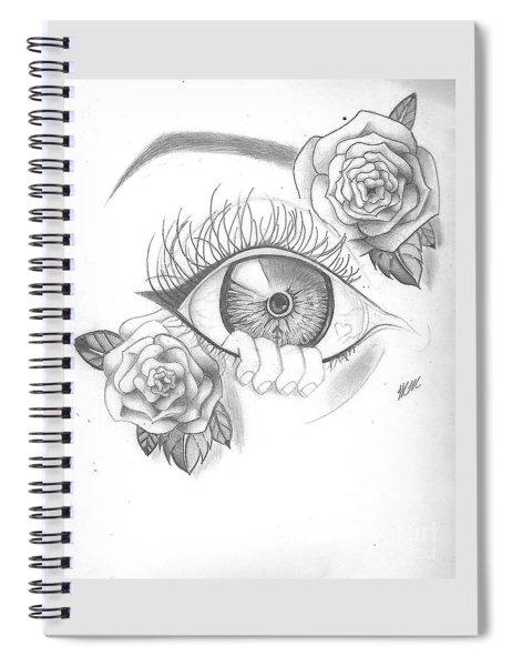 Creepy Eye And Rose Spiral Notebook