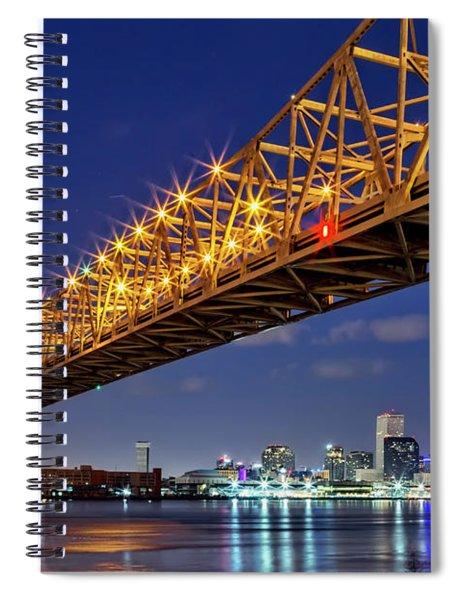 The Crescent City Bridge, New Orleans  Spiral Notebook