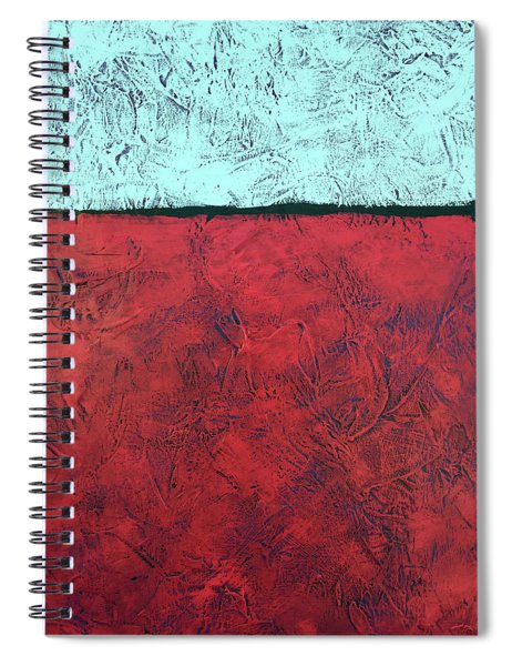 Crimson Earth Meets Pearl Sky Spiral Notebook