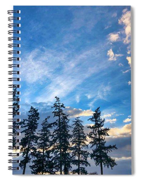 Crisp Skies Spiral Notebook