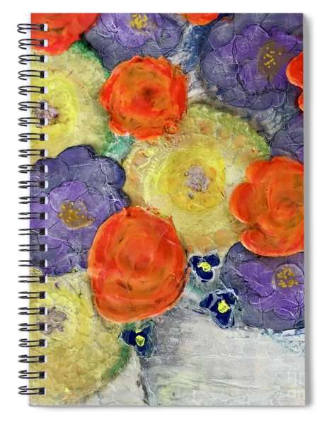 Crochet Bouquet Spiral Notebook