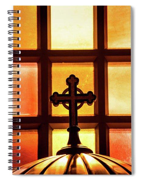 Cross And Light Spiral Notebook