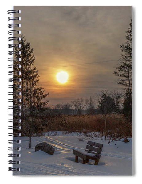 Spiral Notebook featuring the photograph Sunrise At Crossroads by Rod Best