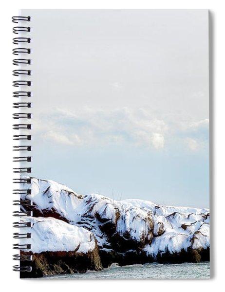 Crow Island, Winter Light Spiral Notebook