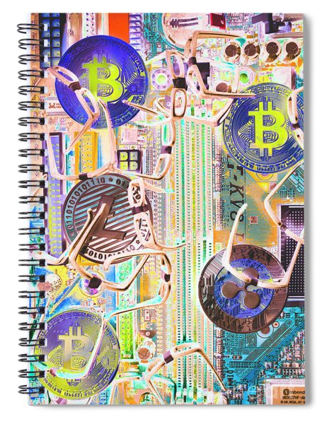 Cryptocurrency Circuitry Spiral Notebook