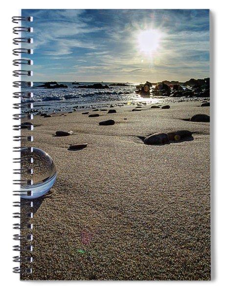 Crystal Ball Sunset Spiral Notebook