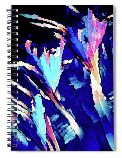 Crystal C Abstract Spiral Notebook