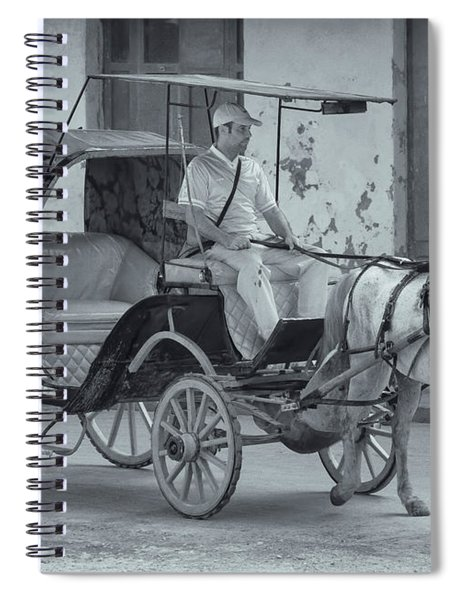 Cuban Horse Taxi Spiral Notebook