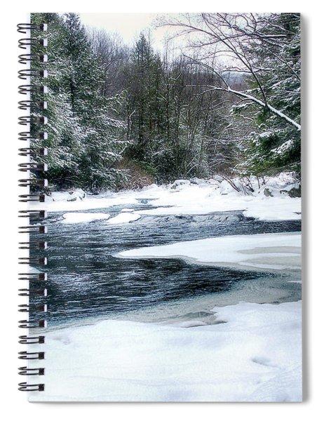 Cucumber Run In Winter Spiral Notebook
