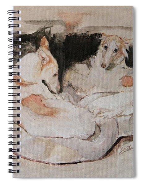 Cuddle Zone - Silken Windhounds Spiral Notebook