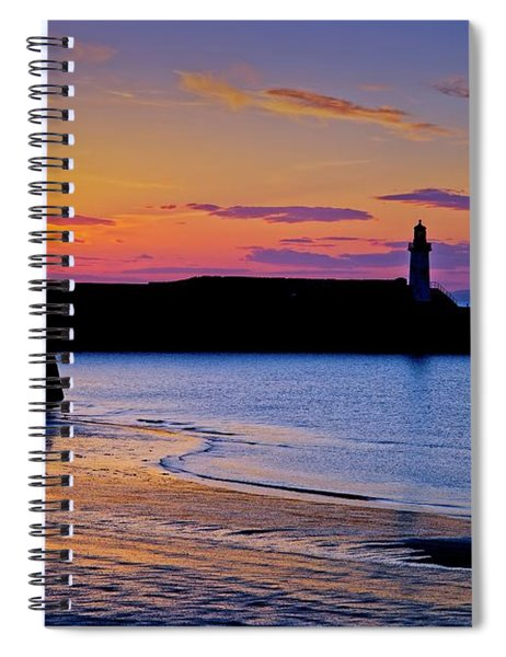 Cumbrian Sunset At Whitehaven Spiral Notebook