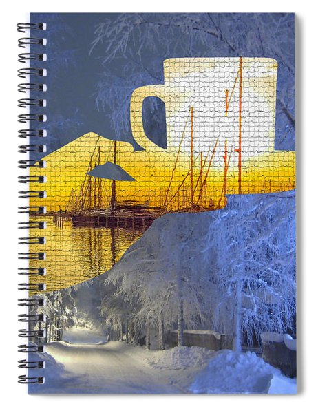 Cup Of Tea In The Winter Evening Spiral Notebook