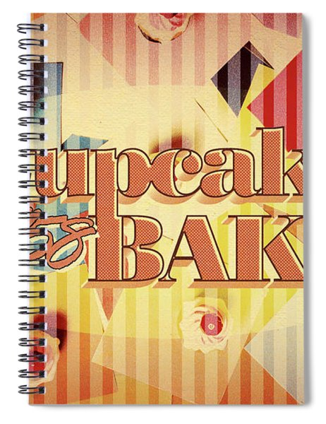 Cupcake Bake 1958 Spiral Notebook