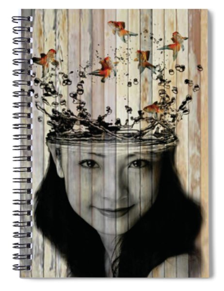 Curious Flying Fish  Spiral Notebook