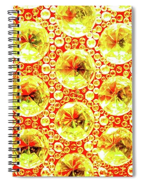 Cut Glass Beads 3 Spiral Notebook