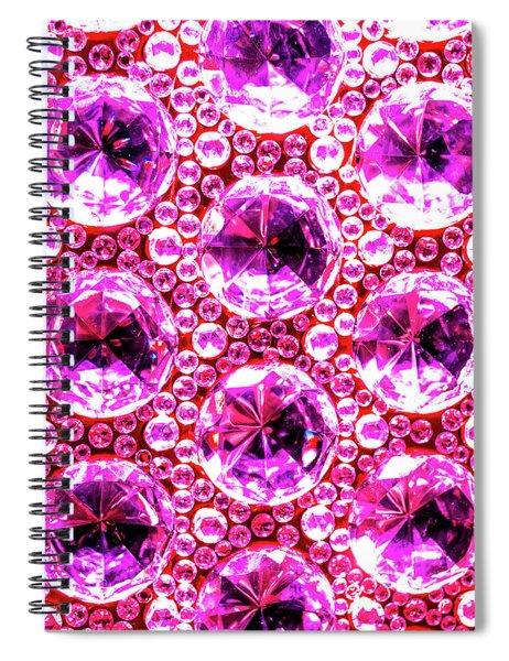 Cut Glass Beads 6 Spiral Notebook