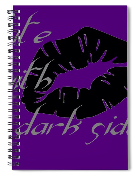 Cute With A Dark Side Gothic Valentine Spiral Notebook