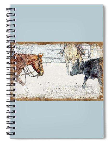 Cutting Horse At Work Spiral Notebook