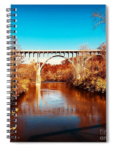 Cuyahoga River At Autumn Spiral Notebook