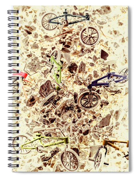 Cycling Abstracts Spiral Notebook